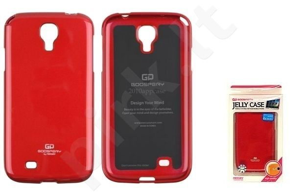 Samsung Galaxy S4 dėklas JELLY Mercury raudonas
