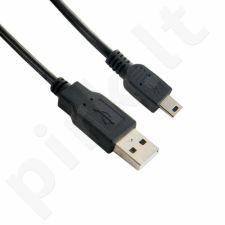 Kabelis 4World USB 2.0 MINI 5pin, AM / B MINI 0.8m