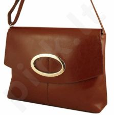 DAN-A T22 konjako spalvos rankinė iš natūralios odos , moteriška