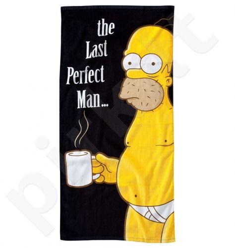 "Simpsonų paplūdimio rankšluostis ""The Last Perfect Man"" (152 x 75cm)"