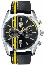 Laikrodis SCUDERIA FERRARI D50 chronometras vyriškas oda STRAP kvarcinis WR 50mt 44mm