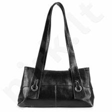 DAN-A T6 juoda rankinė iš natūralios odos , moteriška