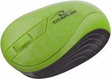 Bevielė optinė pelė Titanum 3D TM115G NEON | 2.4 GHz | 1000 DPI | Zöld