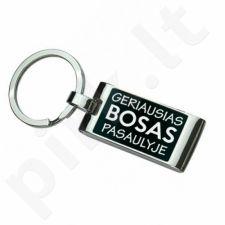 """Graviruotas raktų pakabukas """"Geriausias bosas pasaulyje"""""""