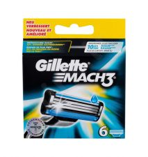 Gillette Mach3, keičiamos galvutės vyrams, 6pc