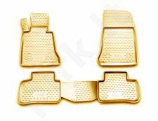 Guminiai kilimėliai 3D MERCEDES-BENZ GLK-Class X204 2008-2013, 4 pcs. /L46023B /beige