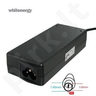Whitenergy mait. šaltinis 19V/4.74A 90W kištukas 7.4x5.0 mm + pin HP Compaq