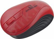 Bevielė optinė pelė Titanum 3D TM115R NEON | 2.4 GHz | 1000 DPI | Raudona