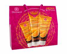 Dermacol Belgian Chocolate, Aroma Ritual, rinkinys dušo želė moterims, (dušo želė 250 ml + kūno losjonas 200 ml + rankų kremas 100 ml)
