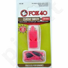 Švilpukas FOX Classic + virvutė 9903-0408 różowy
