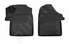 Kilimėliai 3D MERCEDES-BENZ V-Class, Vito 2014-> (W447) , 5d, 2 pcs. black /L46043