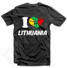 """Marškinėliai """"I love Lithuania"""""""