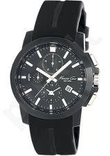 Laikrodis KENNETH COLE - SPORT SS chronografas vyriškas BLACK STRAP