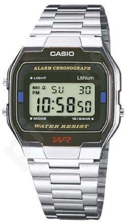 Laikrodis CASIO A163WA-1QES Vintage chronografas. Micro light. Stop- . Timer. . wr 30