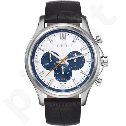 Esprit ES108251003 Mathias Black vyriškas laikrodis-chronometras