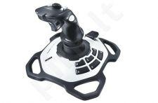 Vairasvirtė Logitech Extreme 3D Pro, 12 programuojamų mygtukų, USB