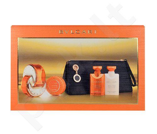 Bvlgari Omnia Indian Garnet rinkinys moterims, (EDT 65ml + 40ml kūno pienelis + 40ml dušo želė + 50g muilas + kosmetika krepšys)