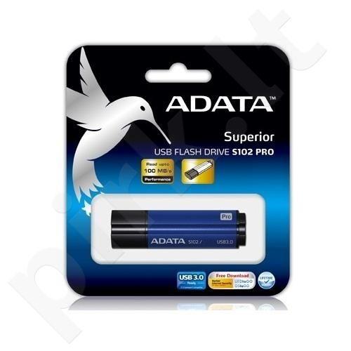 Atmintukas Adata S102 PRO 64GB USB3.0 Titanium Blue