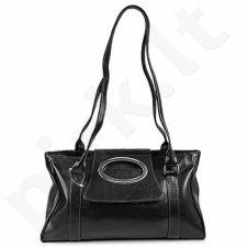DAN-A T23 juoda rankinė iš natūralios odos , moteriška