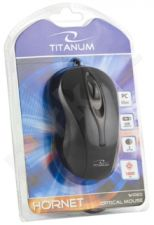 Optinė pelė Titanum TM103K Hornet USB 3D| 1000 DPI |Juoda| Blisteris