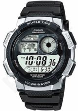 Laikrodis CASIO AE-1000W-1A2 WORLD TIME Day . wr 100. chronografas. timer **ORIGINAL BOX**