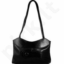 DAN-A T24 juoda rankinė iš natūralios odos , moteriška