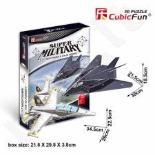 3D dėlionė: F-117 Nighthawk ir F/A-18 Hornet