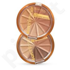 Rimmel London Sun Shimmer 3in1 Shimmering Bronzer, kosmetika moterims, 9,9g, (001 Gold Princess)