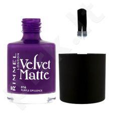 Rimmel London Velvet Matte nagų lakas, kosmetika moterims, 12ml, (015 Midnight Kiss)