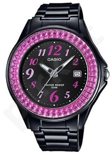 Laikrodis CASIO LX-500H-1B kvarcinis. moteriškas Resin strap. strass. Data. WR 50mt. **ORIGINAL BOX**