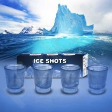 Lediniai stikliukai iš akrilo, 4 vnt.