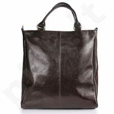 DAN-A T177A šokolado spalvos rankinė iš natūralios odos , moteriška