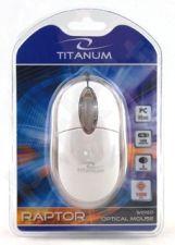 Optinė pelė Titanum TM102W USB | 1000 DPI |Balta| Blisteris