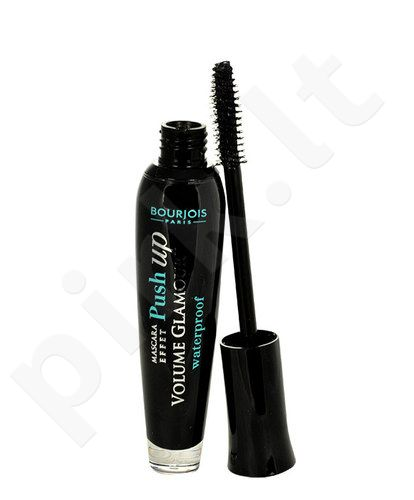 BOURJOIS Paris blakstienų tušas Push Up Volume Glamour atsparus vandeniui, kosmetika moterims, 7ml, (71 Black Waterproof)