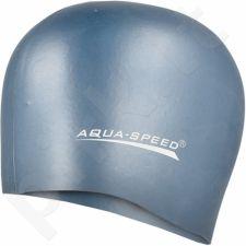 Maudymosi kepuraitė  Aqua-Speed silikonowy Mega 22 pilkas