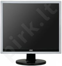 Monitorius AOC e719sda 17', LED, 5ms, DVI, Juodai sidabrinis