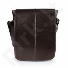 DAN-A T215 šokolado spalvos rankinė iš natūralios odos