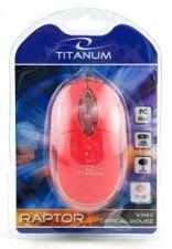 Optinė pelė Titanum TM102R USB | 1000 DPI |Raudona| Blisteris