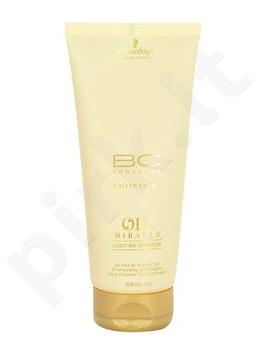 Schwarzkopf BC Bonacure Oil Miracle Light Oil šampūnas, kosmetika moterims, 200ml