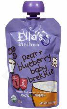 Ekologiška mėlynių ir kriaušių tyrelė kūdikiams nuo 6 mėnesių ELLA'S KITCHEN, 100 g