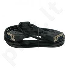 4World Monitoriaus kabelis SVGA D-Sub15 M/M 1.8m, feritas