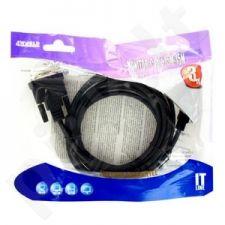 4World Monitoriaus kabelis SVGA D-Sub15 M/M 3m, feritas