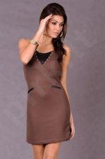 5111-2 Suknelė šokolado atspalvio