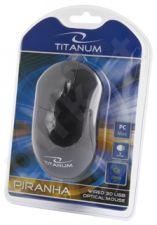 Optinė pelė Titanum TM107K PIRANHA 3D| 1000 DPI |Juoda| Blisteris
