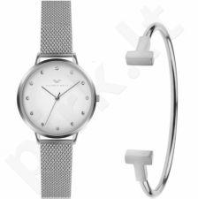 Moteriškas laikrodžio ir apyrankės komplektas VICTORIA WALLS VWS023