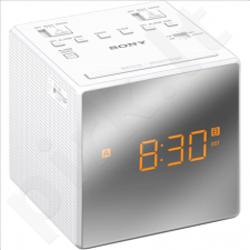 Sony ICF-C1TW clock radio with dual Alarm White
