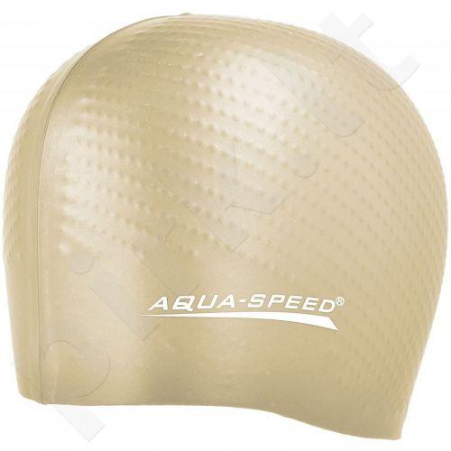Maudymosi kepuraitė  Aqua-Speed silikonowy Biomassage New geltonas