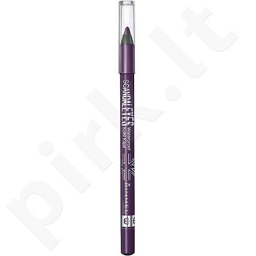 Rimmel London Scandal Eyes atsparus vandeniui akių kontūrų pieštukas Kajal, kosmetika moterims, 1,2g, (001 Black)