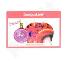 Desigual Love rinkinys moterims, (EDT 100ml + toilette krepšys)