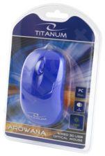 Optinė pelė Titanum TM109B AROWANA 3D| 1000 DPI |Mėlyna | Blisteris